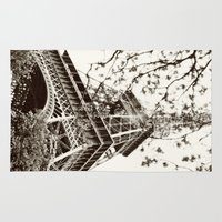 eiffel tower Area & Throw Rugs featuring Eiffel Tower by Linde Townsend