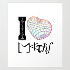 I (love) Maths Art Print