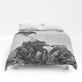 Iwo Jima Flag World War 2 Vintage Comforters