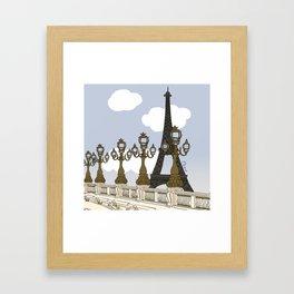 Paris, mon amour Framed Art Print