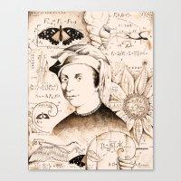 fibonacci Canvas Prints featuring Fibonacci by Will Santino