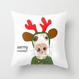 Happy Howlidays Throw Pillow