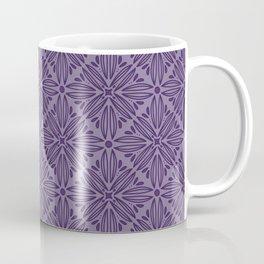 Purple floral mandala tile Coffee Mug
