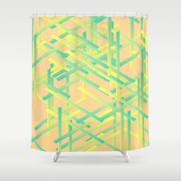 rectangle xyz 02 Shower Curtain