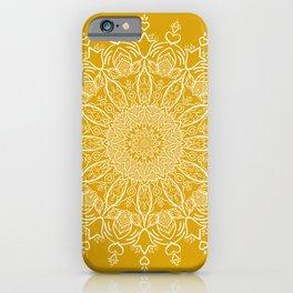 Tulip Mustard Yellow Boho Mandala iPhone Case