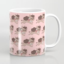 Lady Frenchie is going out for a walk with her friends Coffee Mug