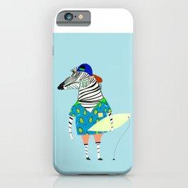 surfer zebra iPhone Case