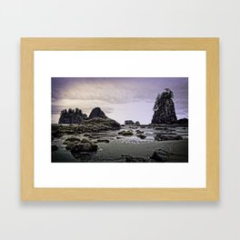 Second Beach-La Push, Washington Framed Art Print
