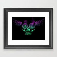 Feathered candy skull Framed Art Print