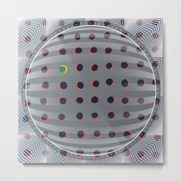 Dots - 3D circle Metal Print