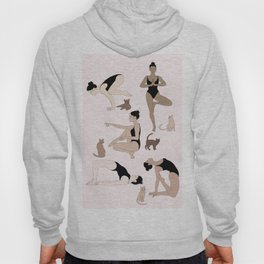 yoga with cats Hoody