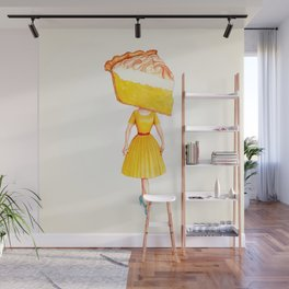 Cake Head Pin-Up - Lemon Wall Mural