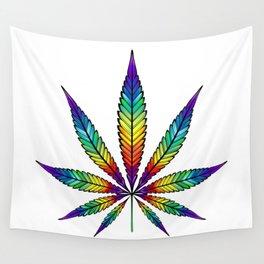 Cannabis Rainbow Leaf Wall Tapestry