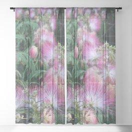 Mimosa Blossoms Sheer Curtain