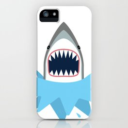 Cartoon Shark Splash iPhone Case