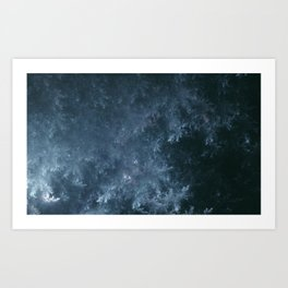Frozen.Pine.Forest Art Print
