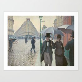 Gustave Caillebotte's Paris Street; Rainy Day Art Print