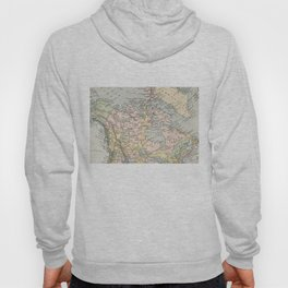 Vintage Map of Canada (1892) Hoody