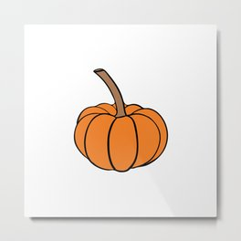 Halloween orange pumpkin Metal Print
