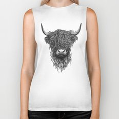 Highland Cattle Biker Tank