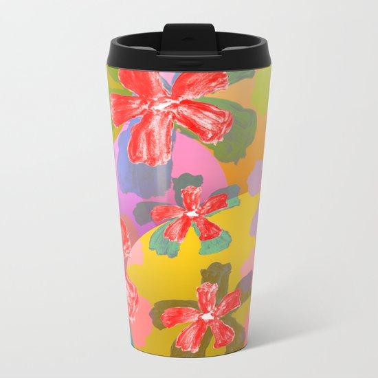 Flowers Attitude Metal Travel Mug