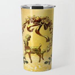 Christmas, reindeer Travel Mug
