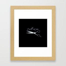 I will cut you (Sapphire) Framed Art Print