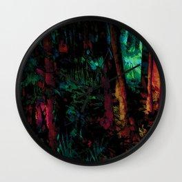 Flora Celeste Jade Forest Wall Clock