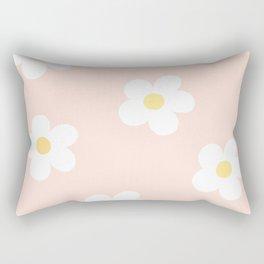 Retro 60's Flower Power Print 3 Rectangular Pillow