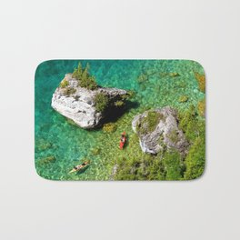 Kayaking In The Bruce Peninsula Bath Mat