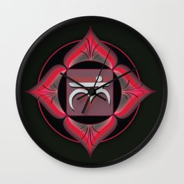 Root Chakra on black Wall Clock