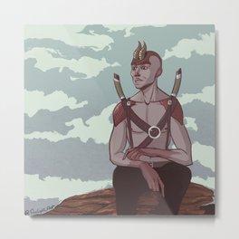 Swordsman Concept Art Metal Print