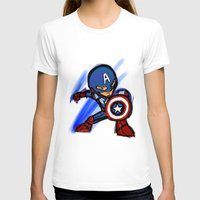 captain silva T-shirts featuring Captain by red monster studios