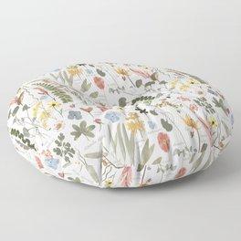Collectors Garden Sketchbook Floor Pillow