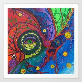 Retina Cochlea (Peephole to my Brain) Art Print
