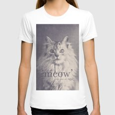 Famous Quotes #2 (anonymous cat, 1952) White Womens Fitted Tee LARGE