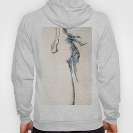 Blue Abstract Fluid Pour - Minimalist Hoody