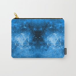 d20 Icosahedron Crystal Wind Carry-All Pouch
