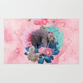 FLORAL ELEPHANT Rug