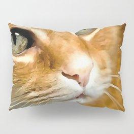 Adorable Ginger Tabby Cat Posing Pillow Sham
