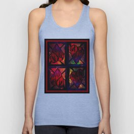 Mi Corazon (My Heart) - Symmetrical Art 3 Unisex Tank Top