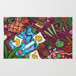 Hearts and Flowers (Cannabis Altar IV) Rug