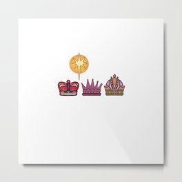 Three Kings Day Jesus Believer Gift Metal Print