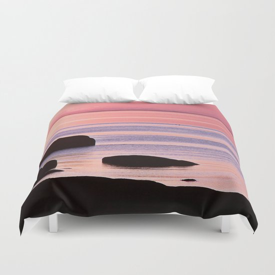 Lines in the Sea Duvet Cover
