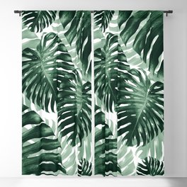 Tropical Monstera Jungle Leaves Pattern #1 #tropical #decor #art #society6 Blackout Curtain