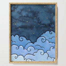 Blue clouds Serving Tray