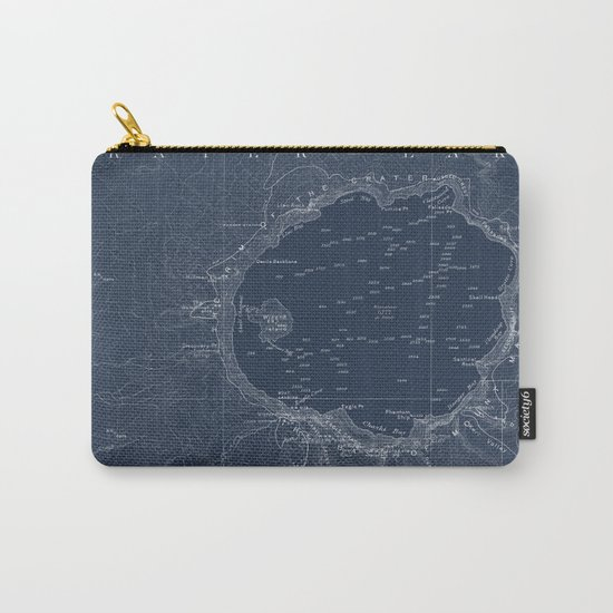 Crater Lake Blueprint Map Design Carry-All Pouch