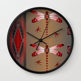 Dragonfly (Red) Wall Clock