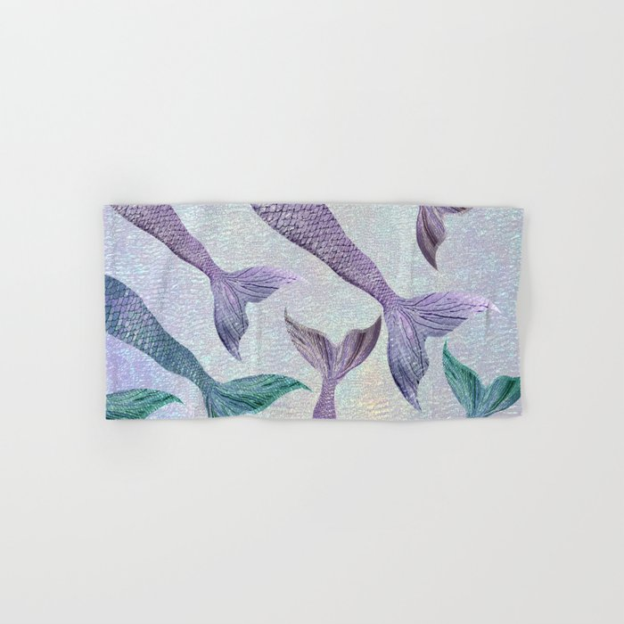 Amethyst and Teal Mermaid Tails Hand & Bath Towel