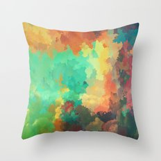 Cloudy in Paradise Throw Pillow